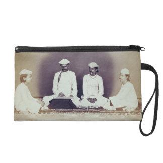 Hindu Brahmins in Delhi, 19th century (sepia photo Wristlet Purse