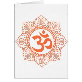 HINDU - BUDDHA SYMBOLS OM,OHM CARD