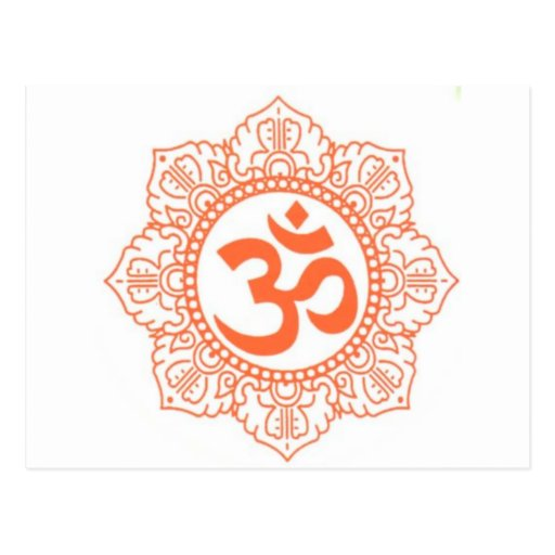 HINDU - BUDDHA SYMBOLS OM,OHM POST CARD
