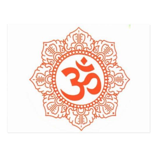 HINDU - BUDDHA SYMBOLS OM,OHM POSTCARD