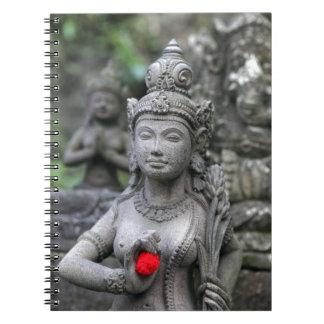 Hindu divine goddess statue notebook
