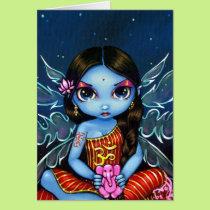 """Hindu Fairy"" Greeting Card"