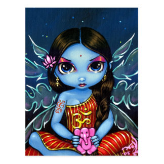 """Hindu Fairy"" Postcard"