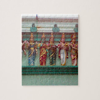 Hindu figures on the wall of Chettiar temple, Jigsaw Puzzle