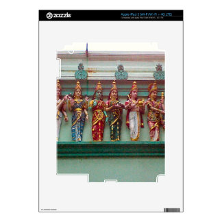 Hindu figures on the wall of Chettiar temple, Decal For iPad 3