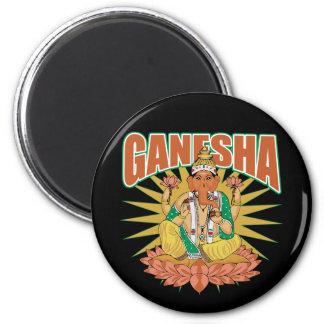Hindu Ganesha 2 Inch Round Magnet