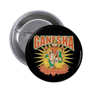 Hindu Ganesha 2 Inch Round Button