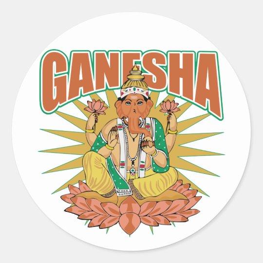 Hindu Ganesha Classic Round Sticker