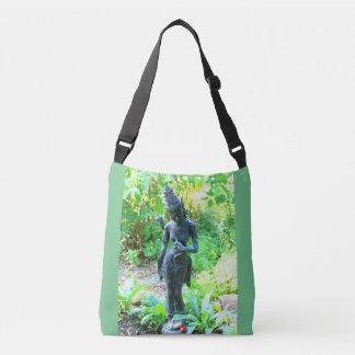 hindu garden deity green tote bag