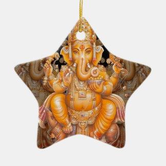 Hindu God Ganesh Ceramic Ornament