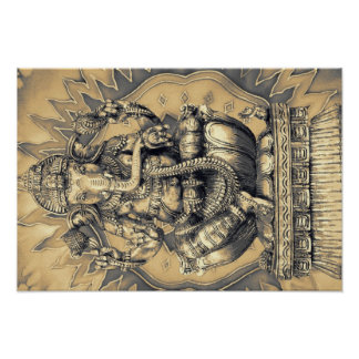 hindu god Ganesh gold Póster