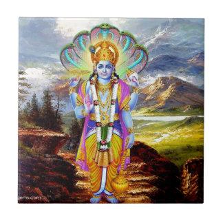 HINDU GOD VISHNU CERAMIC TILE