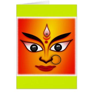 Hindu Goddess Durga Greeting Card