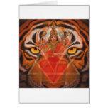 Hindu Goddess Durga, Kali Powerful Tiger Art card