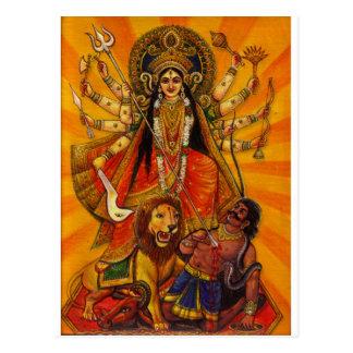 HINDU GODDESS DURGA VICTORY OVER EVIL POSTCARD