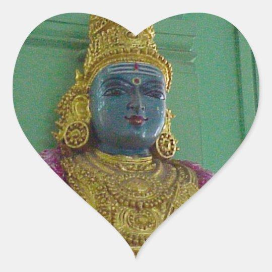 Hindu goddess heart sticker