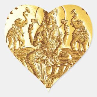 HINDU GODDESS LAKSHMI HEART STICKER