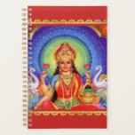 "Hindu Goddess Lakshmi Maa Planner<br><div class=""desc"">Let blessed Devi Lakshmi help you keep life and household organized with this artistic Hindu goddess planner calendar. Lakshmi (Sanskrit:लक्ष्मी, lakṣmī, ˈləkʂmiː) is the Hindu goddess of wealth, fortune, and prosperity (both material and spiritual). She is the wife and active energy of Lord Vishnu. Below, behind, or on the sides,...</div>"