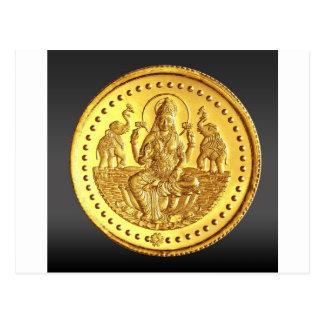 HINDU GODDESS LAKSHMI POSTCARD