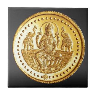 HINDU GODDESS LAKSHMI SMALL SQUARE TILE