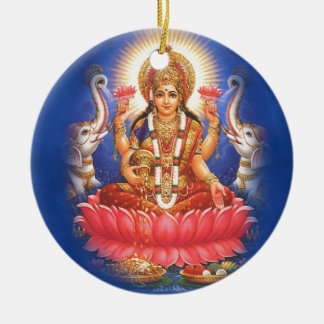 Hindu Goddess Laxmi Devi Mata Ceramic Ornament