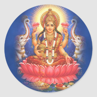 Hindu Goddess Laxmi Devi Mata Classic Round Sticker
