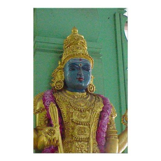 Hindu goddess personalized stationery