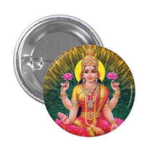 Hindu Goddess Saraswati Button