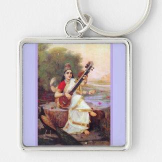 Hindu Goddess Saraswati Keychain