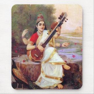 Hindu Goddess Saraswati Mouse Pad