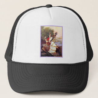 Hindu Goddess Saraswati Trucker Hat