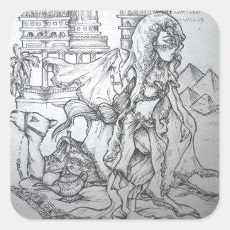 Hindu goddess square sticker