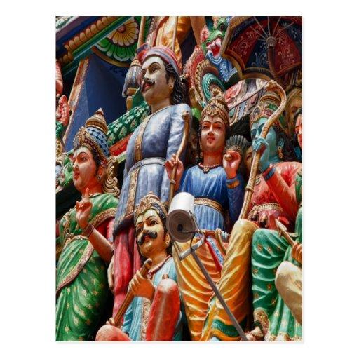 Hindu gods postcard