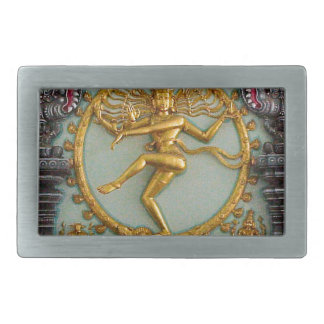 Hindu gods, Shiva Rectangular Belt Buckle