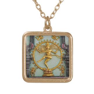 Hindu gods, Shiva Square Pendant Necklace