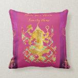 Hindu Housewarming Personalized GANESHA Pillow