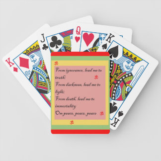 Hindu Mantra Om Bicycle Playing Cards