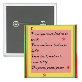 Hindu Mantra Om Button
