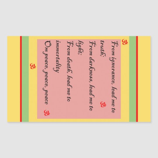 Hindu Mantra Om Rectangular Sticker