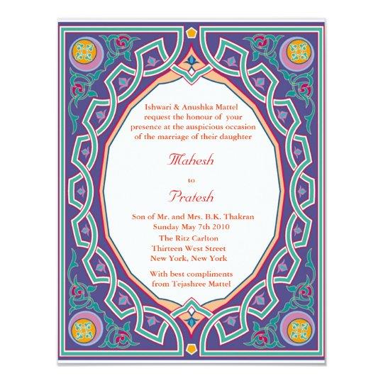 Muslim Wedding Invitation Wording: Hindu Muslim Indian Wedding Or Mehndi Invitation