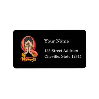 Hindu Namaste Label