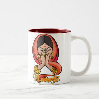 Hindu Namaste Two-Tone Coffee Mug