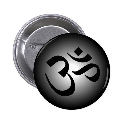 Hindu OM - Meditation Symbol Button
