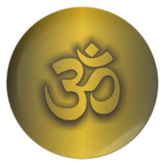 "Hindu ""Om"" Party Plates"