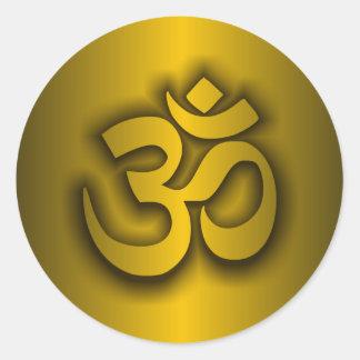 "Hindu ""Om"" Classic Round Sticker"