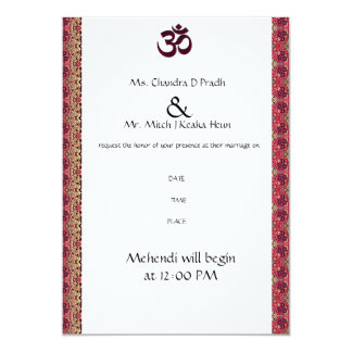 Hindu Om Wedding Invitation