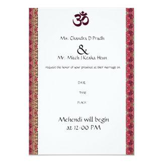 Hindu Om Wedding Invitation