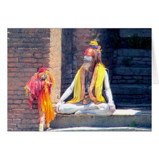 Hindu Priest in Kathmandu, Nepal-AKA BABA Card