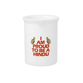 hindu religious designs beverage pitcher
