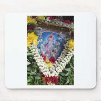 Hindu shrine floral offerings to the god Shiva Mouse Pad
